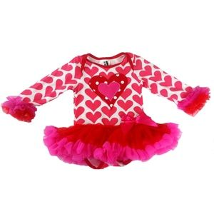 Other - 1-Piece Tulle Tutu Dress w/Hearts NWT